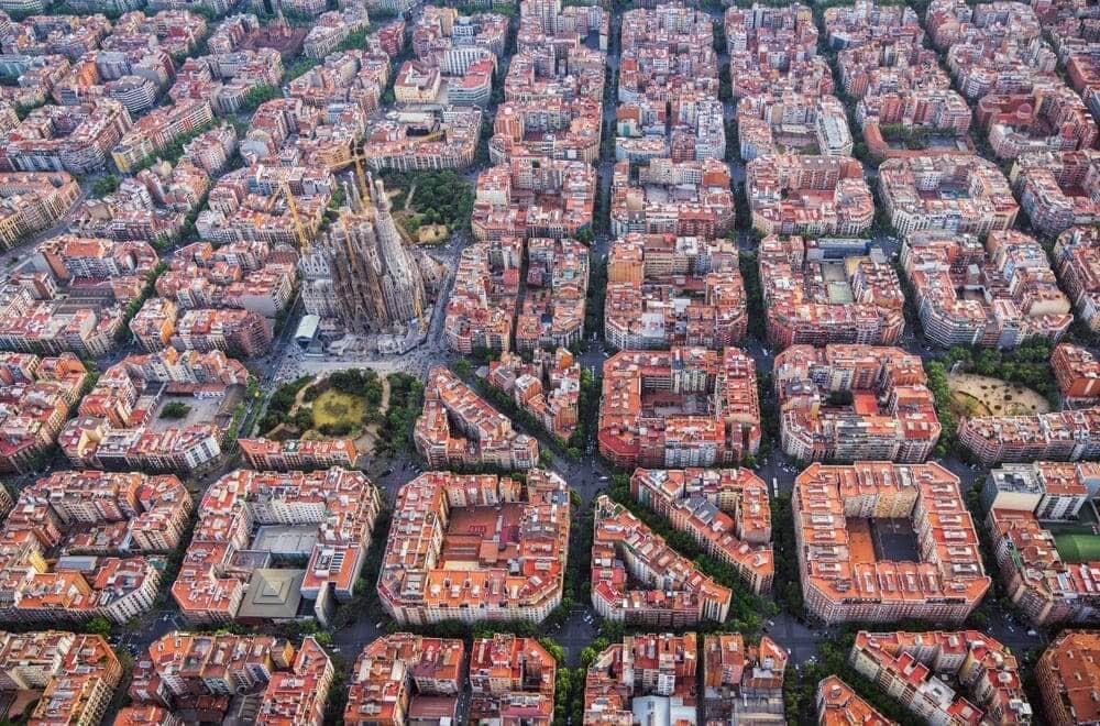 Precios por metro cuadrado por barrios de Barcelona 2020